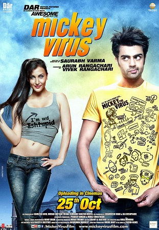Poster Of Mickey Virus 2013 Hindi 350MB DVDRip 480p ESubs Free Download Watch Online