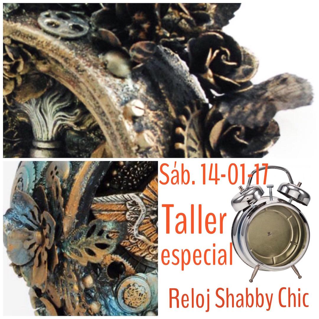 Las Casitas de Papel:                      Taller Reloj Shabby Chic