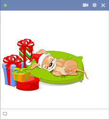 Sleepy puppy - Facebook Christmas sticker