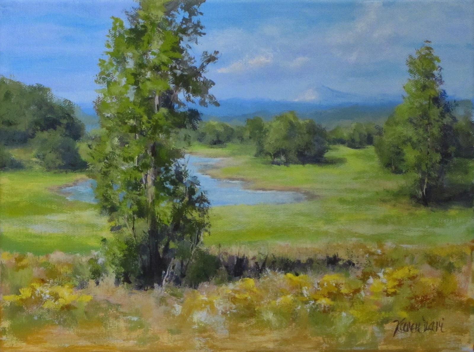Karen Ilari Painting Summer Pond An Acrylic Landscape Tutorial Video