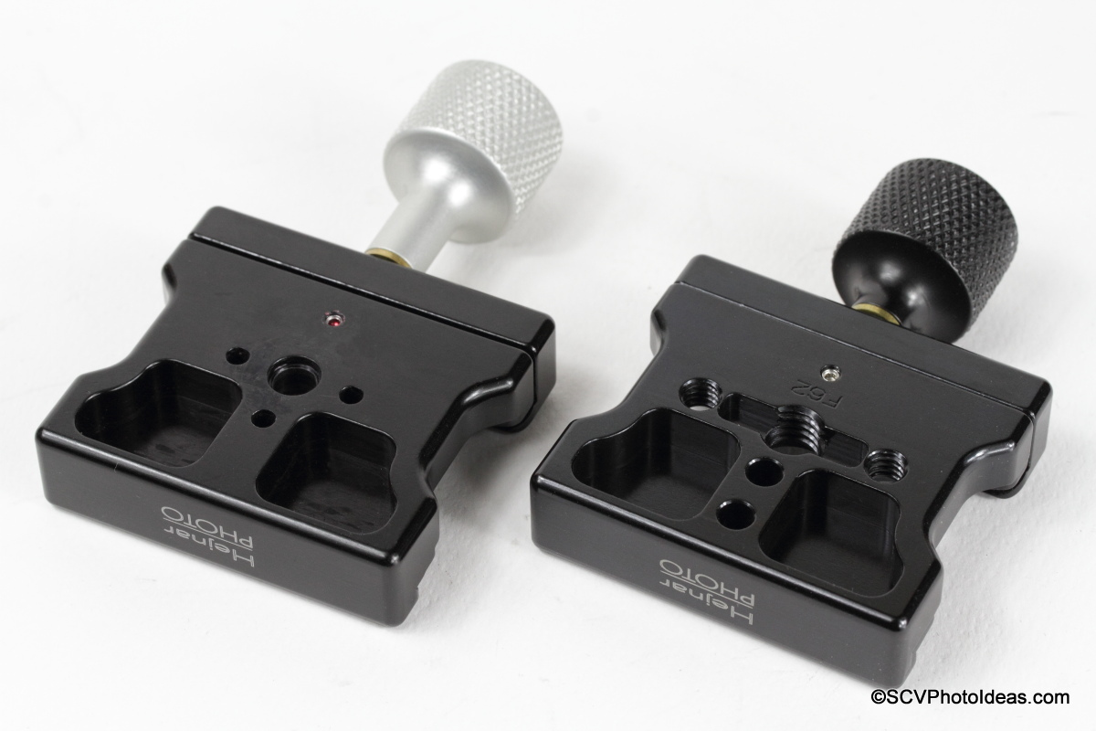 Hejnar Photo F62M vs F62ab QR clamps comparison bottom