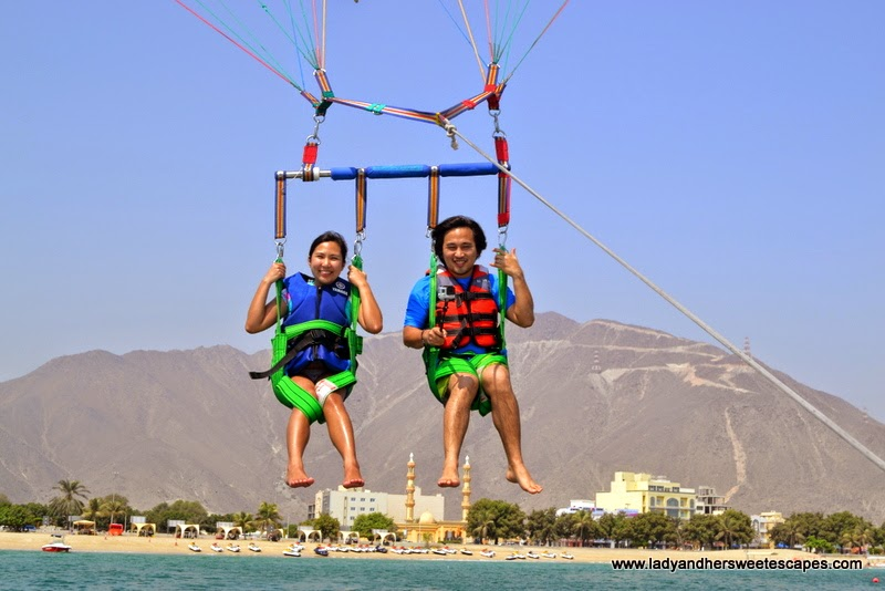 wet and wild adventure in Khorfakkan