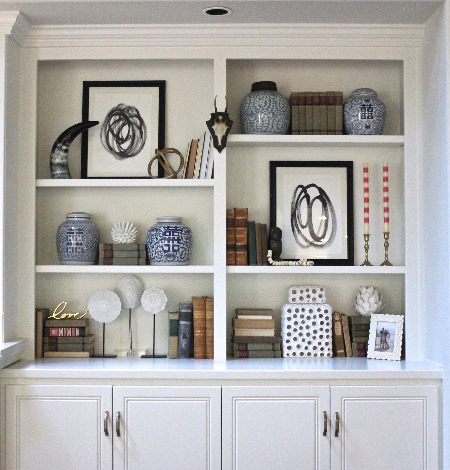 Shelf Styling With Diy Art Forever Cottage