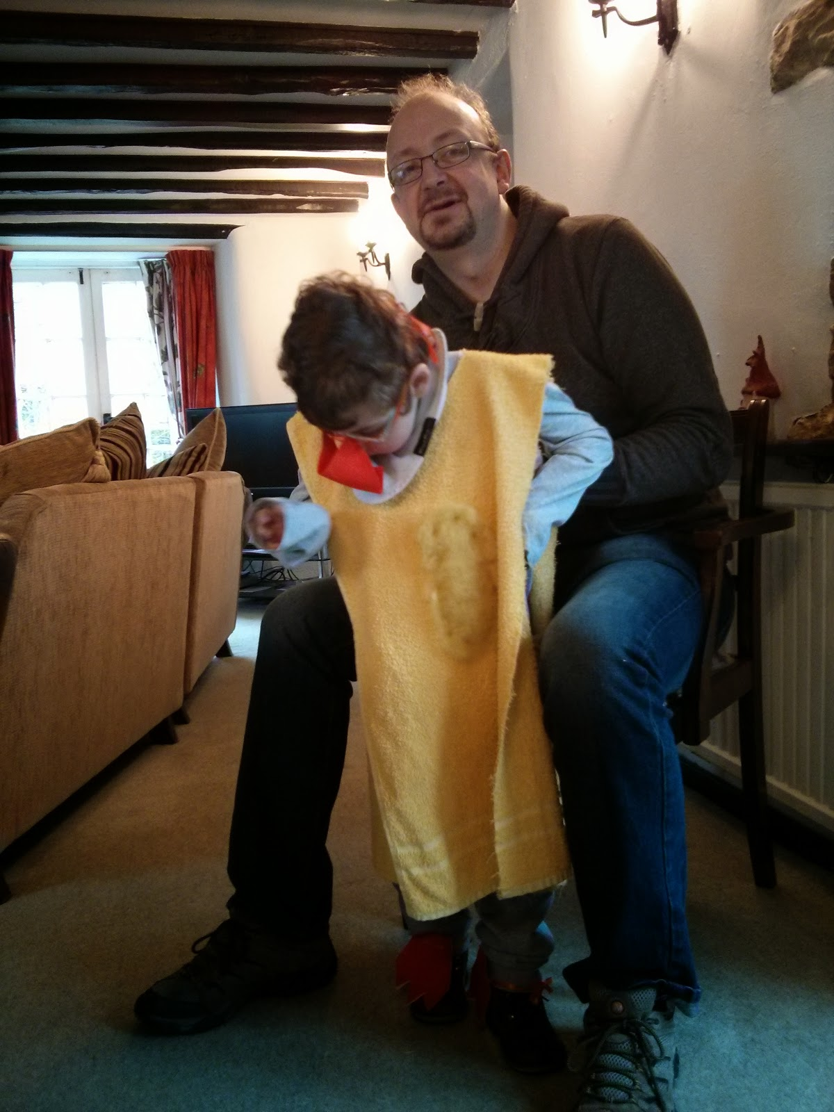 daddy and Seth dressed as a duck