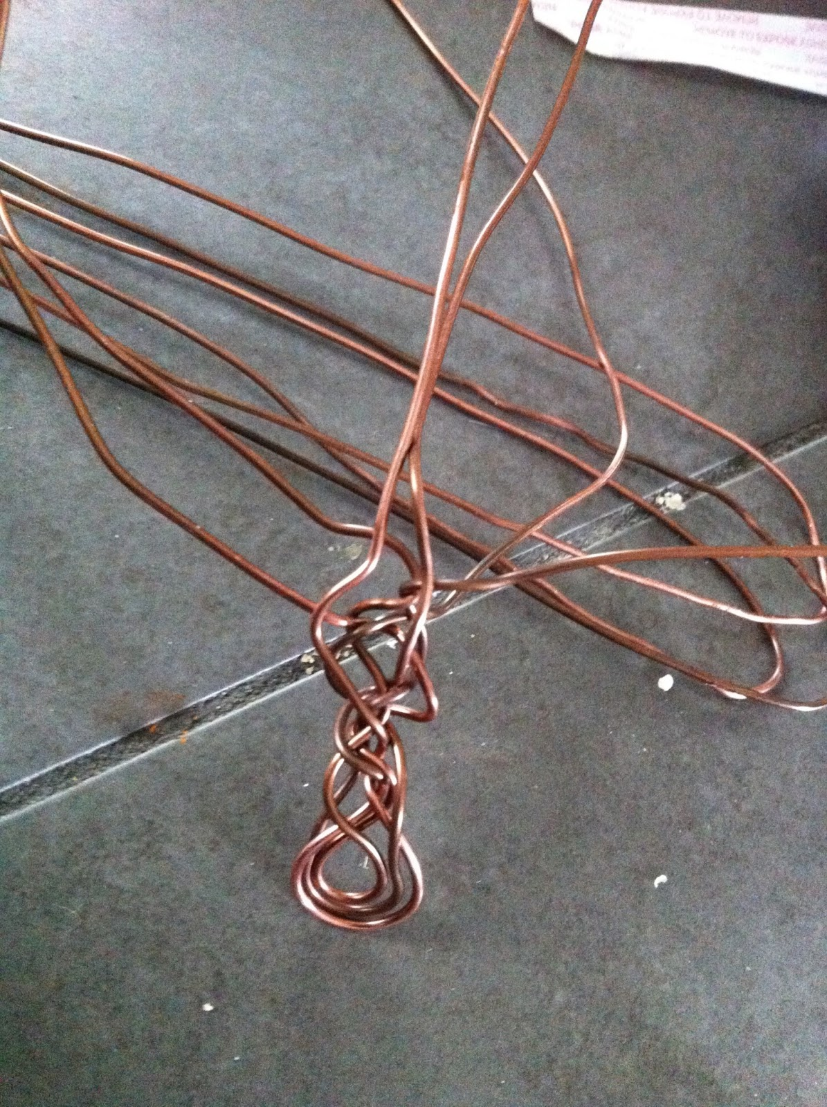 DEBORHREAD.COM: Copper Weave Bracelet - Croc Ridge Wire Weave