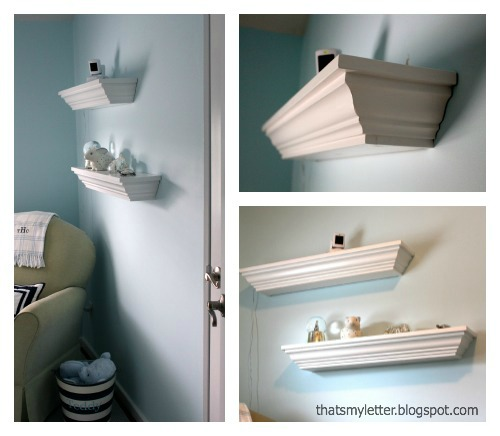 DIY Crown Molding Ledge Shelf