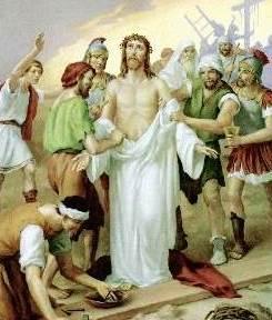 Jesús desnudado de su vestiduras