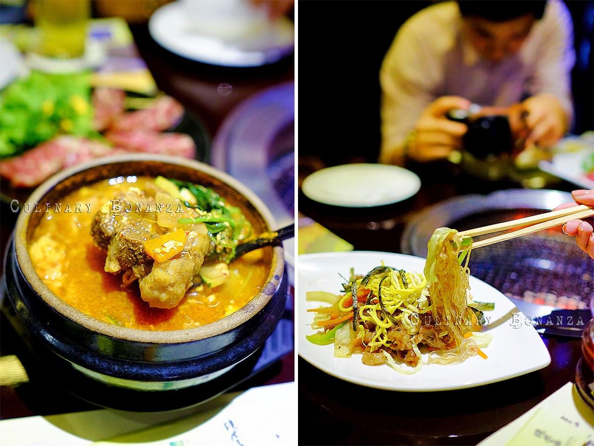 Komutan Soup and Korean Japchae