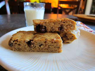 Moneky Bars - banana chocolate chip snack cake bars
