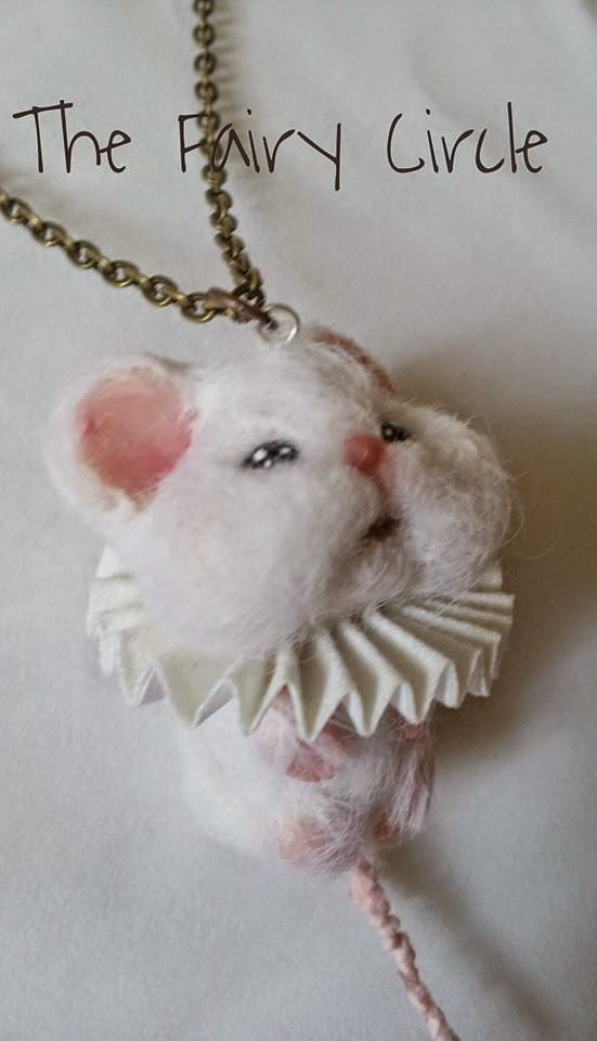 ooak mouse mice topo miniature miniatura collana ciondolo