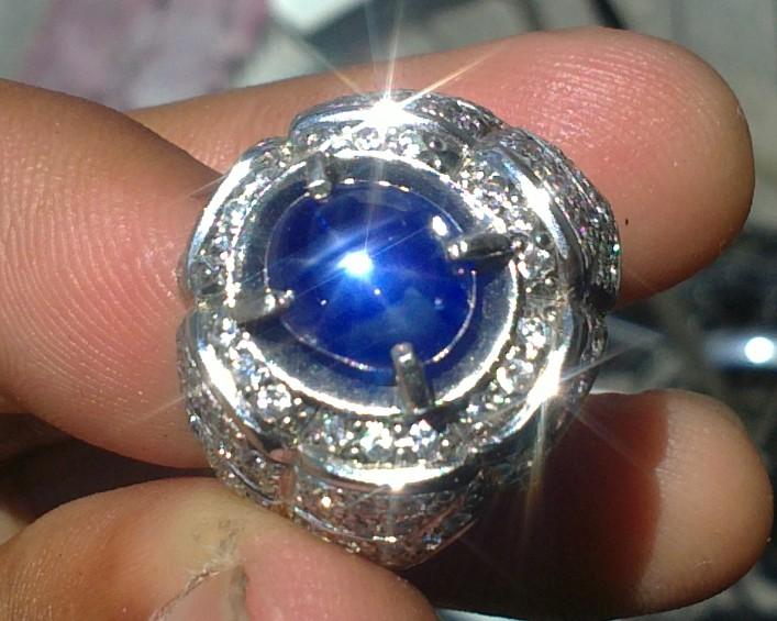 java gemstones blue safir star birma vs black golden star