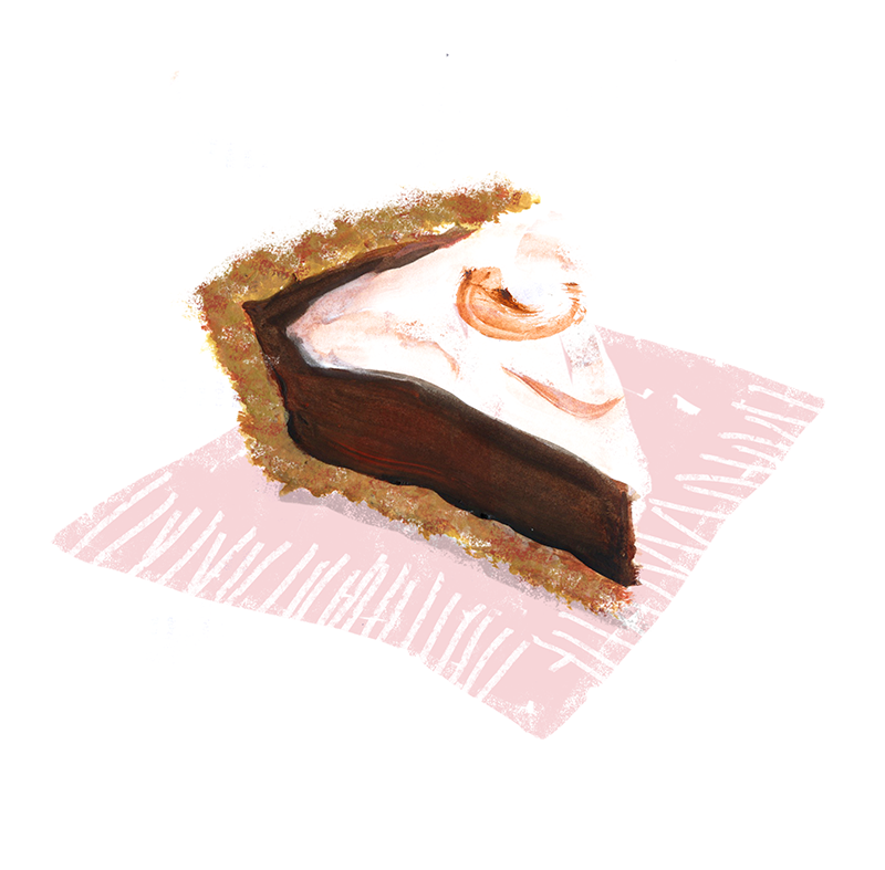 Strawberry S'mores Pie, lauren monaco illustration