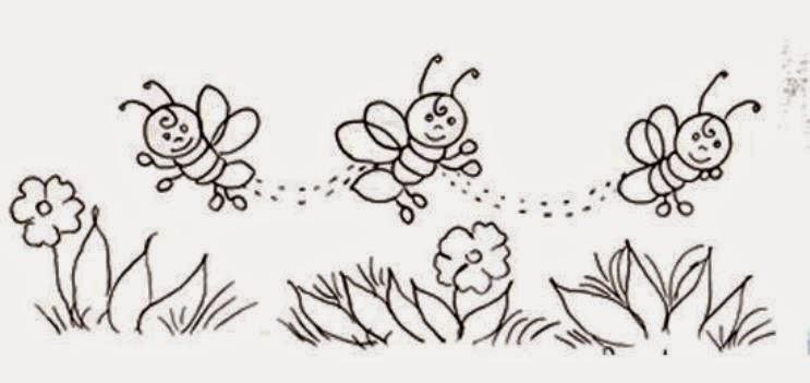 jornal r 7ª desenhos de abelhas para pintura em tecido