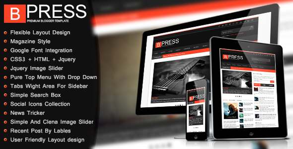 Bpress Responsive Magazine Blogger Template