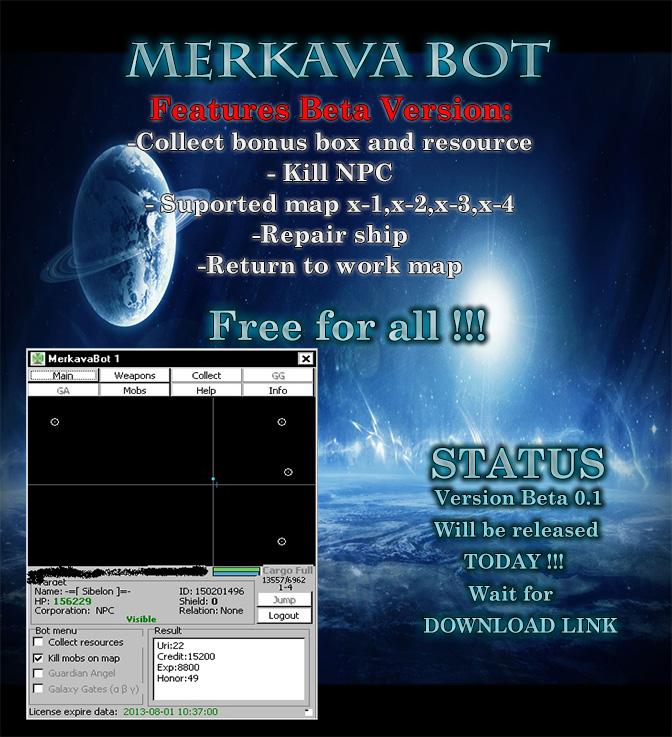 EqBCg Darkorbit Hile MerkavaBot Free Online Oyun Botu Versiyon v1.0 indir