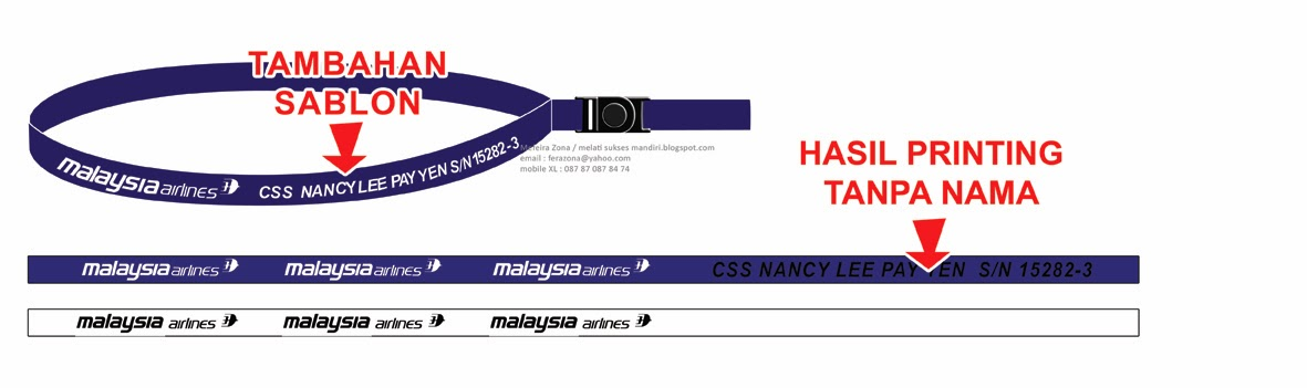 spanduk instant: tali id card lanyard printing full color