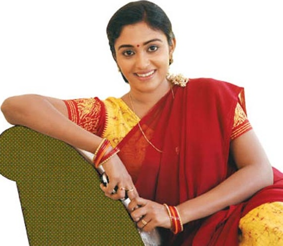 Actress Sreeja Chandran Beautiful Vijay Tv Serial Saravanan Meenakshi
