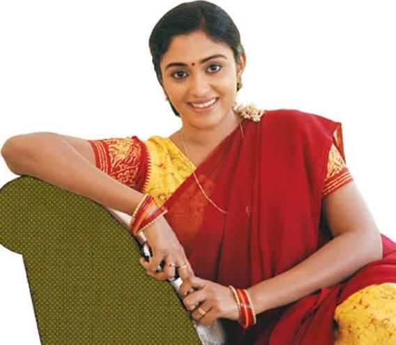 Actress Sreeja Chandran Beautiful Vijay Tv Serial Saravanan Meenakshi