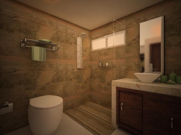 Baño Vestidor Diseno:Diseño de Espacios Interiores: Propuesta para Remodelación Cabaña