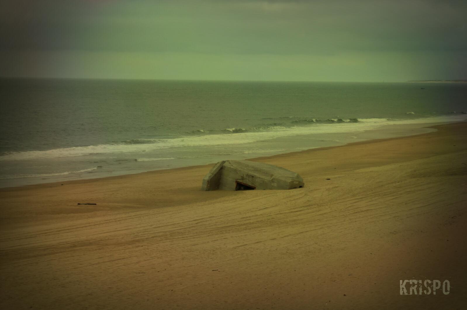 plano general de bunker semienterrado en playa de las landas