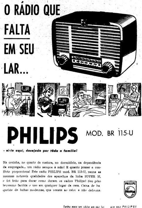 Propaganda antiga do Rádio Philips em 1956.
