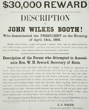 Wanted poster for John Wilkes Booth