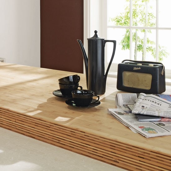John Lewis Kitchen Worktops: Bamboo Lamp Photo: Bamboo Kitchen Worktops