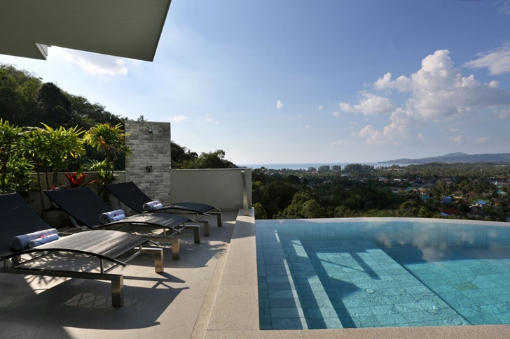 Terrace with pool in Modern Villa Beyond in Phuket
