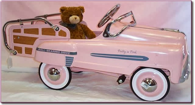Teddy;s Pink Car