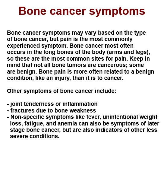 bone cancer The american cancer society has compiled an overview of how people have  understood & described cancer throughout history, as well as treatment evolution.