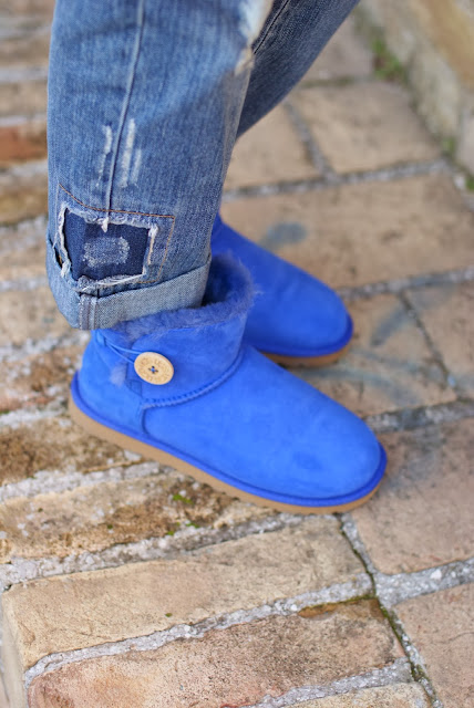 UGG Mini Bailey button blue sapphire, UGG blu bassi bottone, Fashion and Cookies, fashion blogger