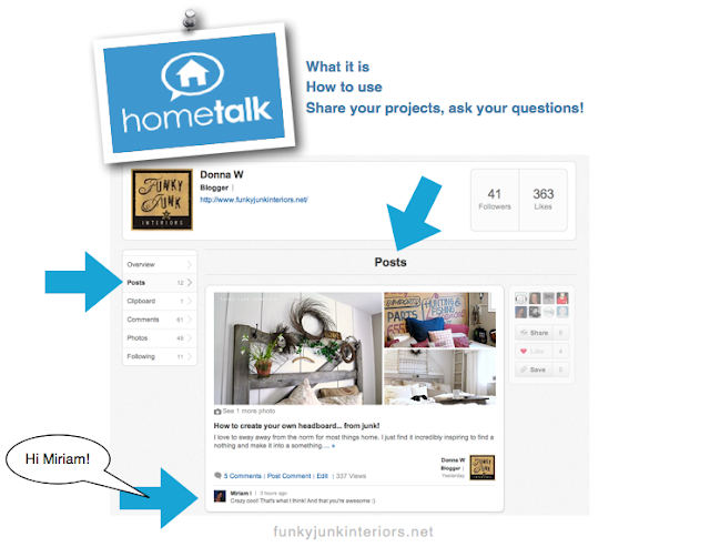 How to use HomeTalk - Take the Tour! via Funky Junk Interiors