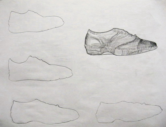 Contour Line Drawing Shoes Lesson Plan : Ocean art broadside: 9 18 15 basic drawing