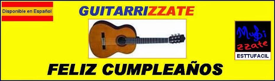 GUITARRA Felíz Cumpleaños