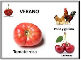 Recetario Mañoso Verano'16: Tomate rosa, pollo - gallina y cerezas