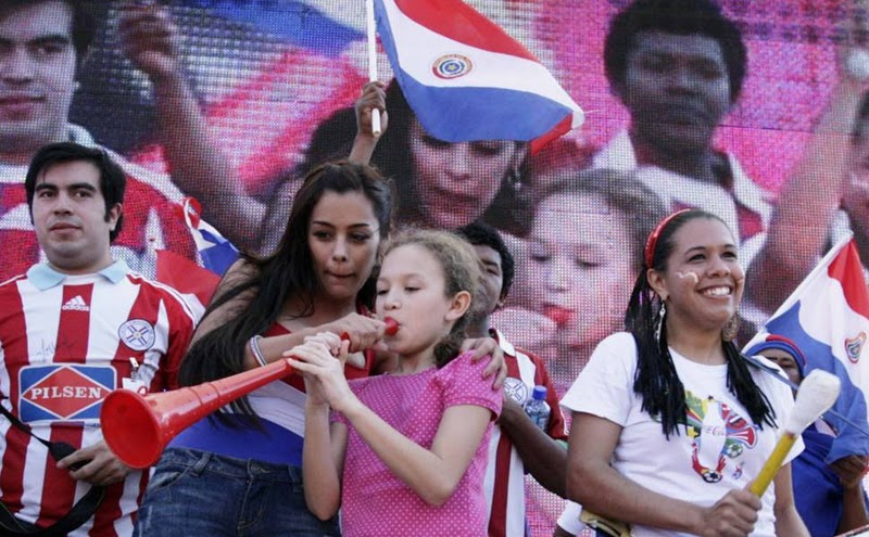 Larissa Riquelme 90mins from naked strip as Paraguay fight