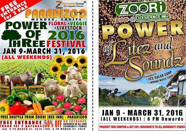 Power Of Three 2016 Festival at Paradizoo