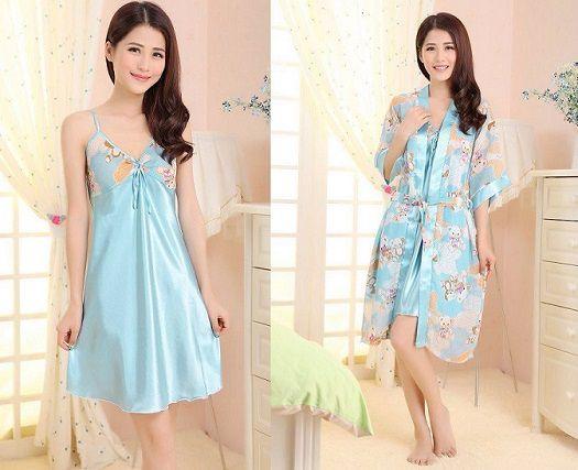 gambar baju tidur sl1206 biru