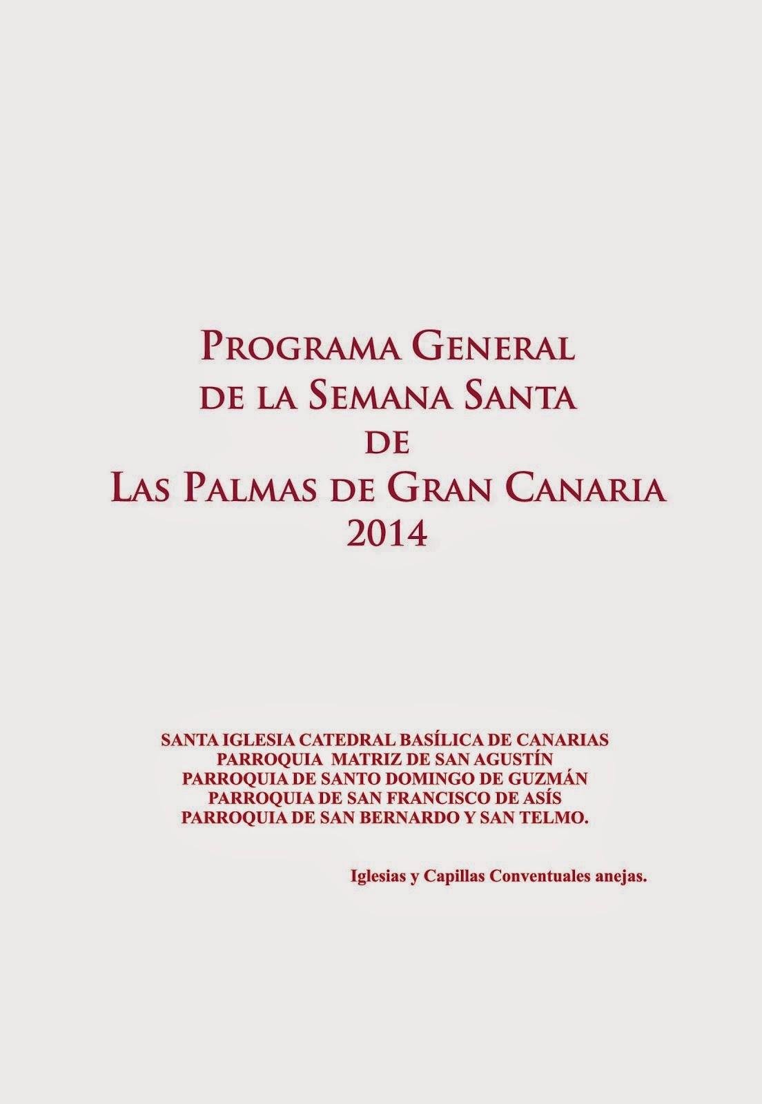 PROGRAMA SEMANA SANTA 2014