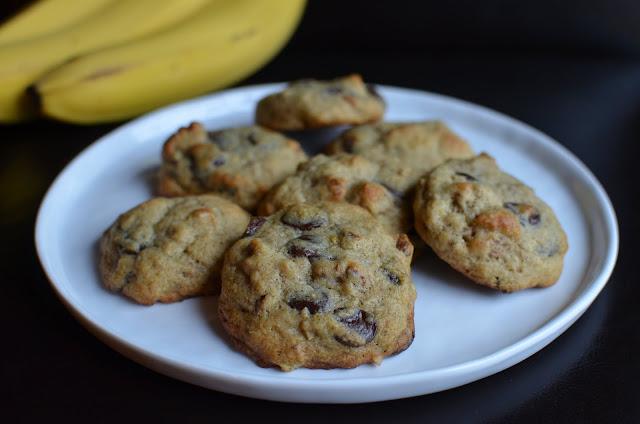 Banana-walnut chocolate chip cookies (hence, the bananas in the ...