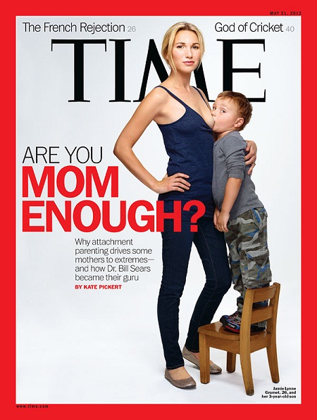 The Secret of times magazine breast feeding cover page