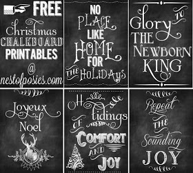 Holiday and Christmas Chalkboard Subway Art