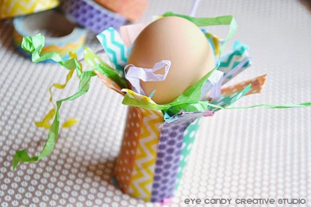 easter egg tutorial, place card holder idea, easter dinner, washi tape craft
