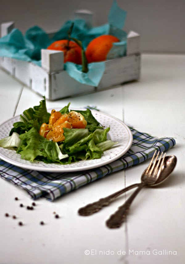 ensalada de escarola con naranja