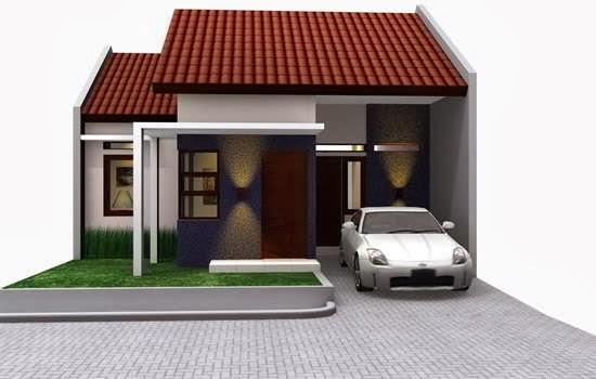 Contoh Foto Gambar Desain Teras Rumah Minimalis Type 45 Denah Modern ...