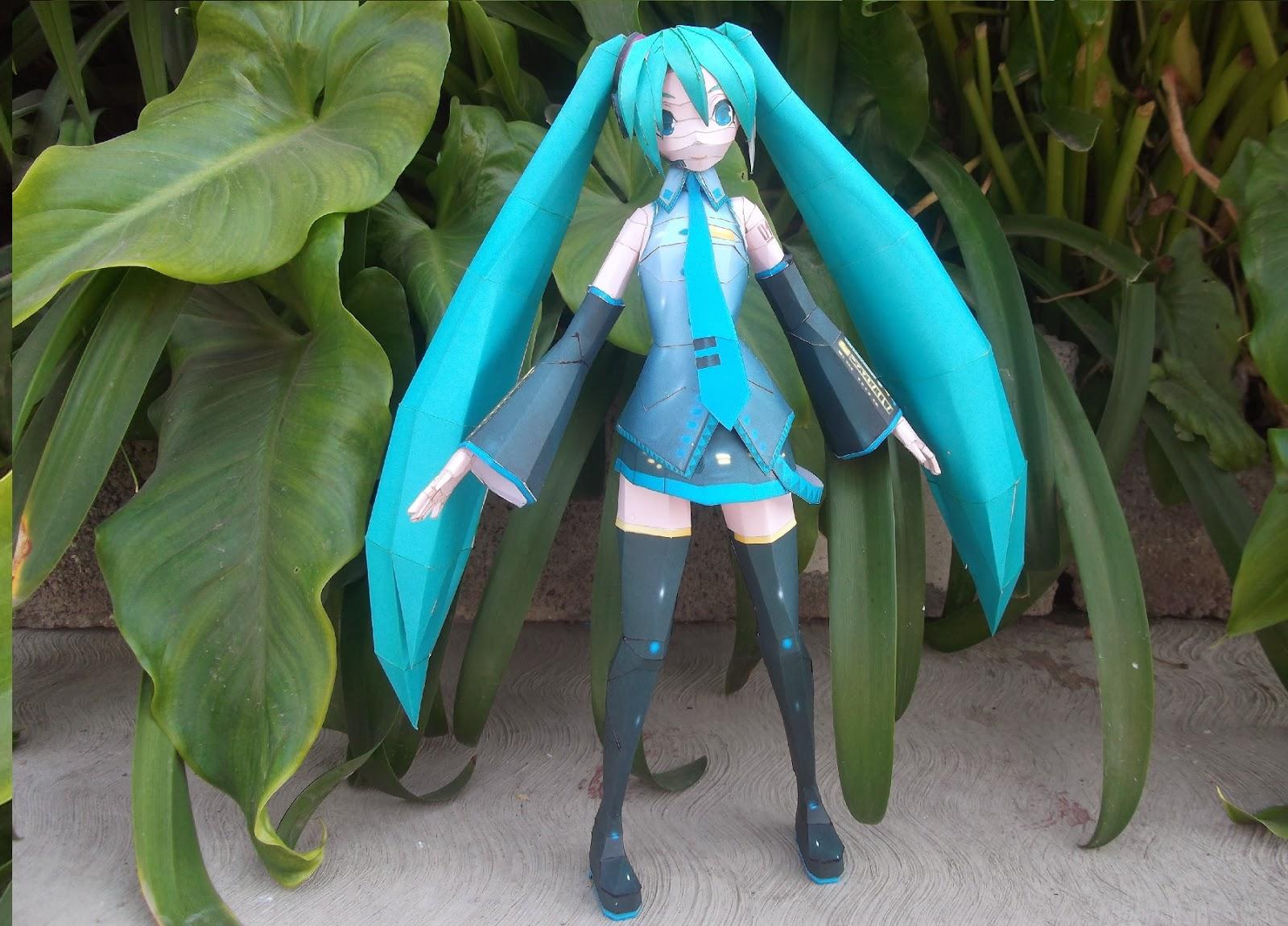 Hatsune Miku Paper Model 2014