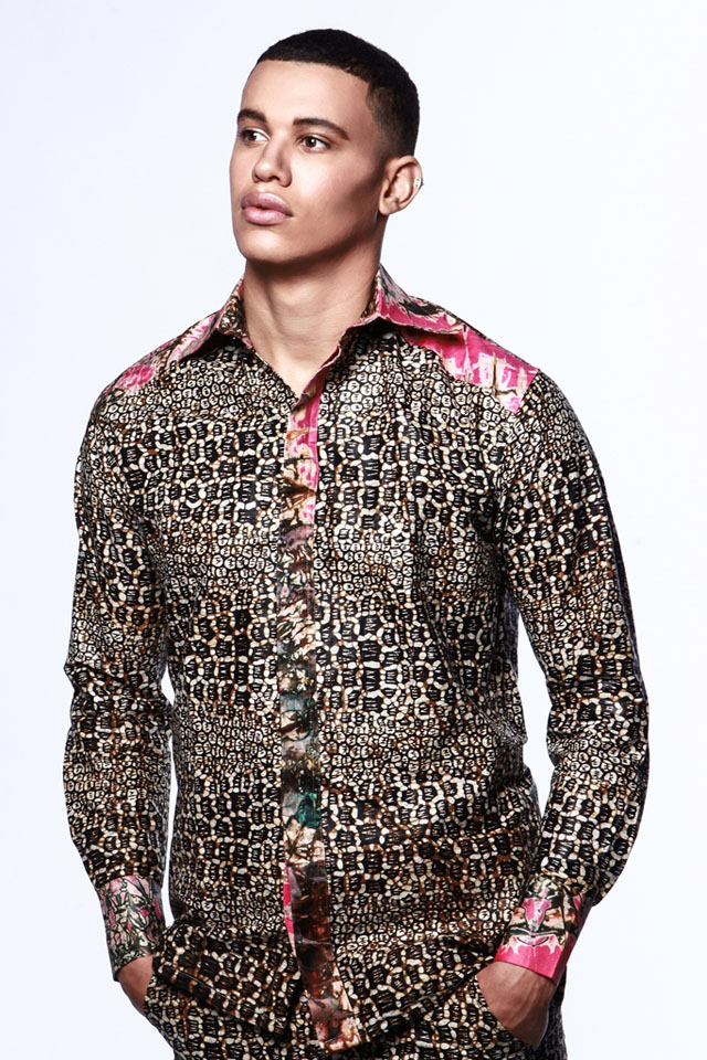 African print shirt for men- ciaafrique-modele de pagne africain