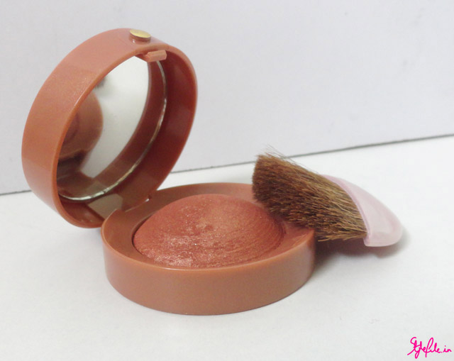 Blush, Bourjois, blush brush, shimmer, golden, brown