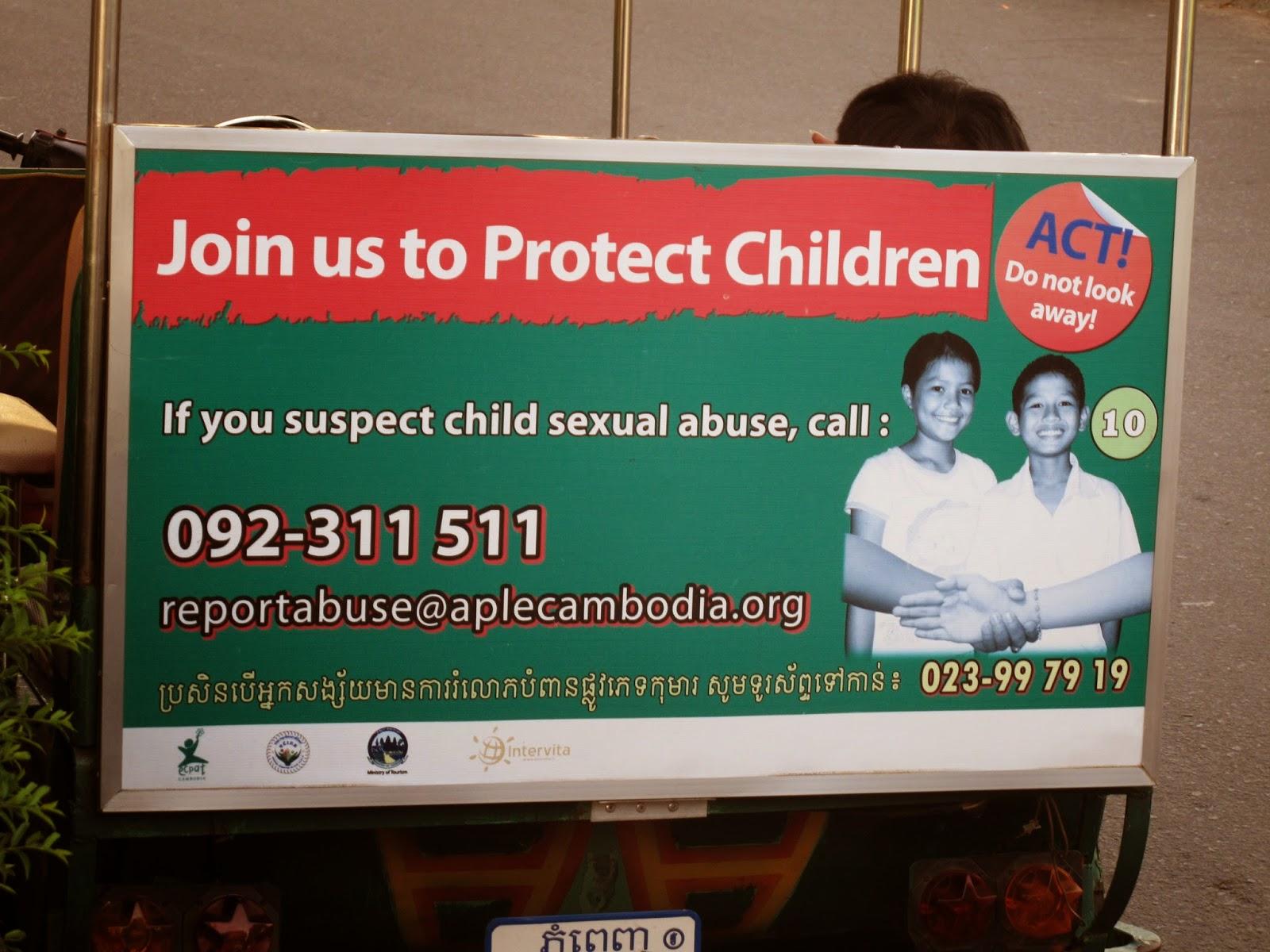 Contra la prostitución infantil en Camboya