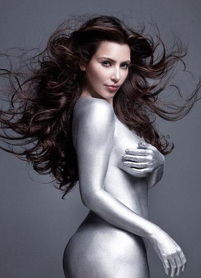kim kardashian silver paint photos. kim kardashian hot and Sexiest Images, ...